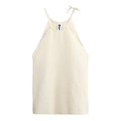 MERCERISED RAW EDGE TANKTOP
