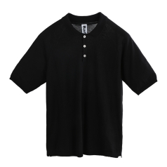 OVERDYED KNITTED POLO